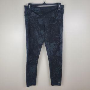 Adidas Climalite Gray And Black Leggings M